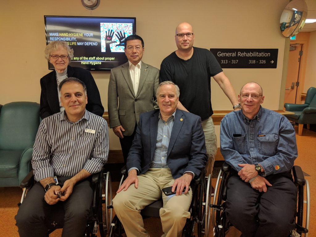 Rotary Club Donation with Wheelchairs